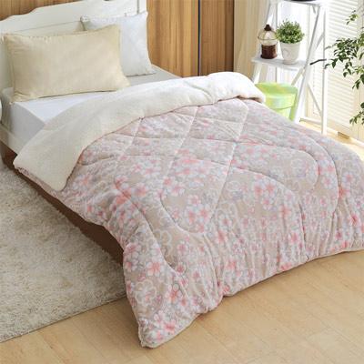 羽織美 浪漫愛戀 3D立體雕花舖棉羊羔絨毯被