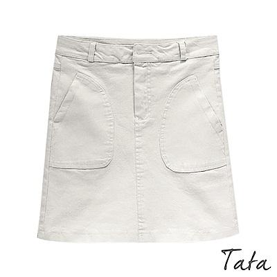 修身彈力牛仔短褲裙 共二色 TATA