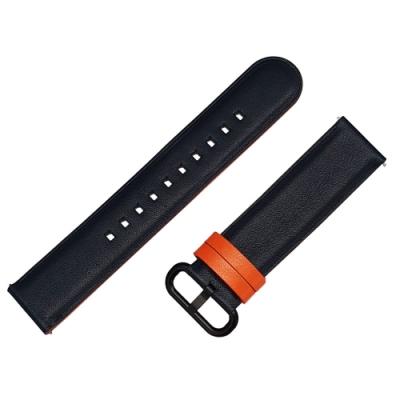 SAMSUNG Galaxy Watch Active 專用錶帶-手工皮革(義大利皮料) 黑