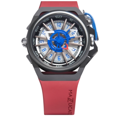 MAZZUCATO 義式美學鷗翼式翻轉機械石英雙面手錶(RIM07-RD7685)