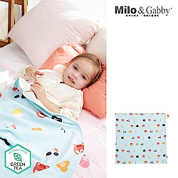 Milo& & Gabby 動物好朋友-雙面寶寶棉蓋毯(LUCY花園)