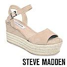 STEVE MADDEN-KIANNA絨面麻編厚底涼鞋-絨藕