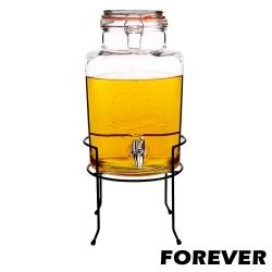 日本FOREVER 夏天必備派對玻璃果汁飲料桶(含桶架)5L
