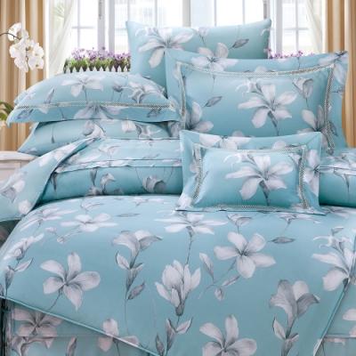 岱思夢   雙人 60支天絲兩用被床包組  勒諾瓦-藍