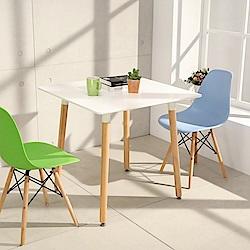LOGIS邏爵- 自然簡約北歐寬80cm方形桌/ 方桌/ 工作桌/