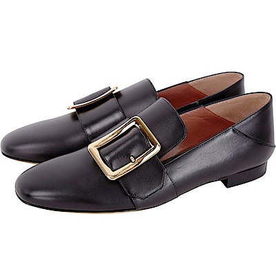 BALLY JANELLE 穿釦設計皮革樂福鞋(黑色)