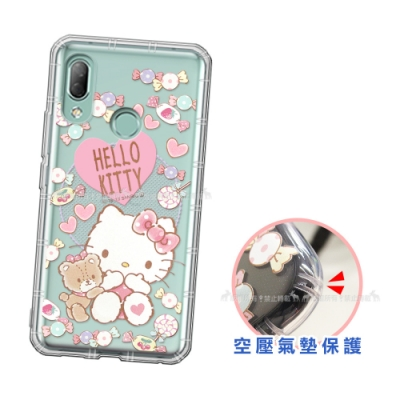 三麗鷗授權 Hello Kitty凱蒂貓 HTC U19e 愛心空壓手機殼(吃手手)