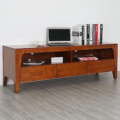 Homelike 克林實木電視櫃(柚木色)-152x45x51cm