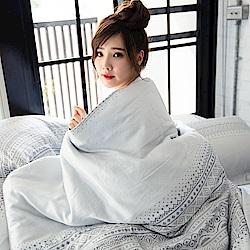 OLIVIA  Melissa  標準雙人床包歐式枕套組 300織萊賽爾TENCEL