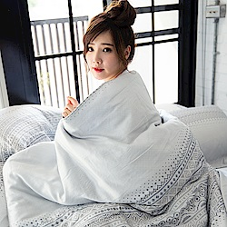 OLIVIA  Melissa 標準雙人床包冬夏兩用被套四件組 300織萊賽爾TENCEL