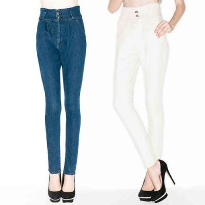 [時時樂限定]BRAPPERS 媽媽的高腰丹寧褲(二色選)