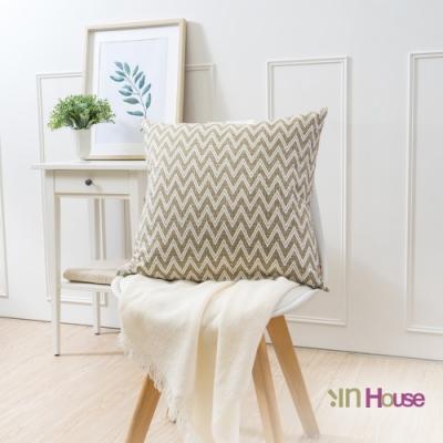 IN HOUSE-簡約系列抱枕-閃電紋(咖啡-50x50cm)