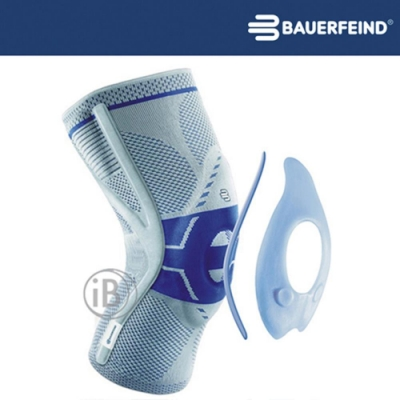 Bauerfeind 頂級專業護具 GenuTrain P3 矯正型 灰藍 左腳