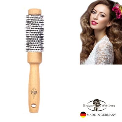 德國BRAUN WETTBURG 珀薇德國製 36MMFSC原木陶瓷熱塑捲髮梳  (一入)