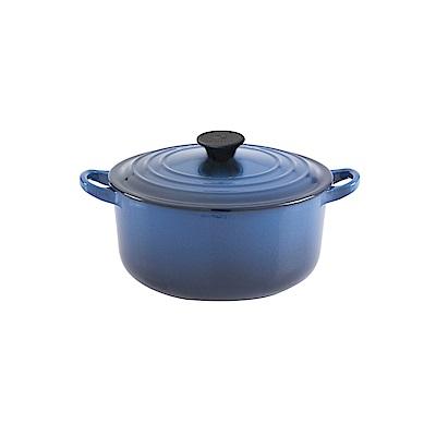 LE CREUSET 琺瑯鑄鐵圓鍋16cm-琉璃藍