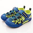 日本月星頂級童鞋 2E護趾輕量涼鞋款 19AB8藍(中小童段)