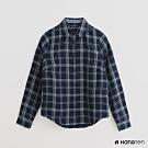 Hang Ten -童裝 - 配色格紋長袖襯衫 - 藍