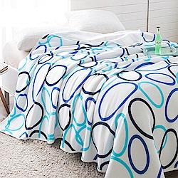 Betrise 律動-藍-100%天竺棉針織舒適涼被(150*200cm)