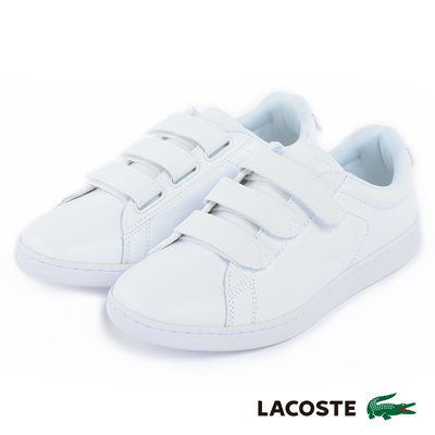 LACOSTE 女用真皮休閒鞋-白
