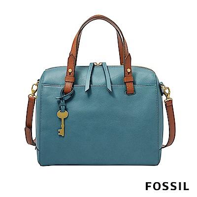 FOSSIL RACHEL 手提+側背兩用波士頓包 -湖水藍