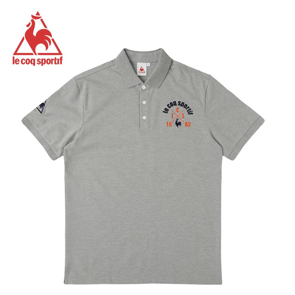le coq sportif 法國公雞牌短袖POLO衫 男-灰