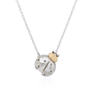 Tiffany&Co. Return to Tiffany 城市花園瓢蟲造型純銀項鍊