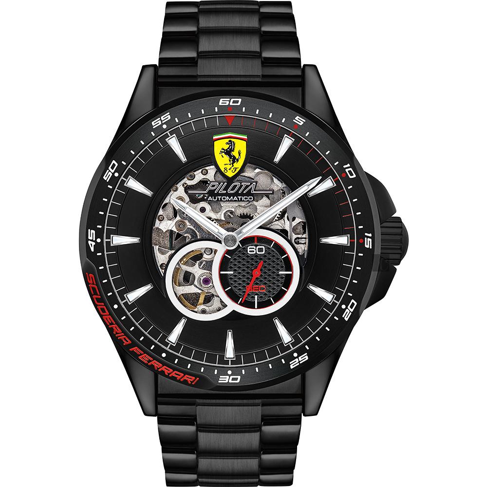 Scuderia Ferrari 法拉利 Pilota 賽車手機械錶(FA0830602)