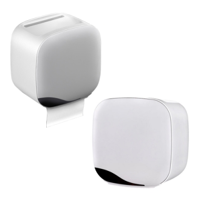 【FJ】防水雙用衛生紙巾收納盒(浴室/廚房/餐廳皆適用)