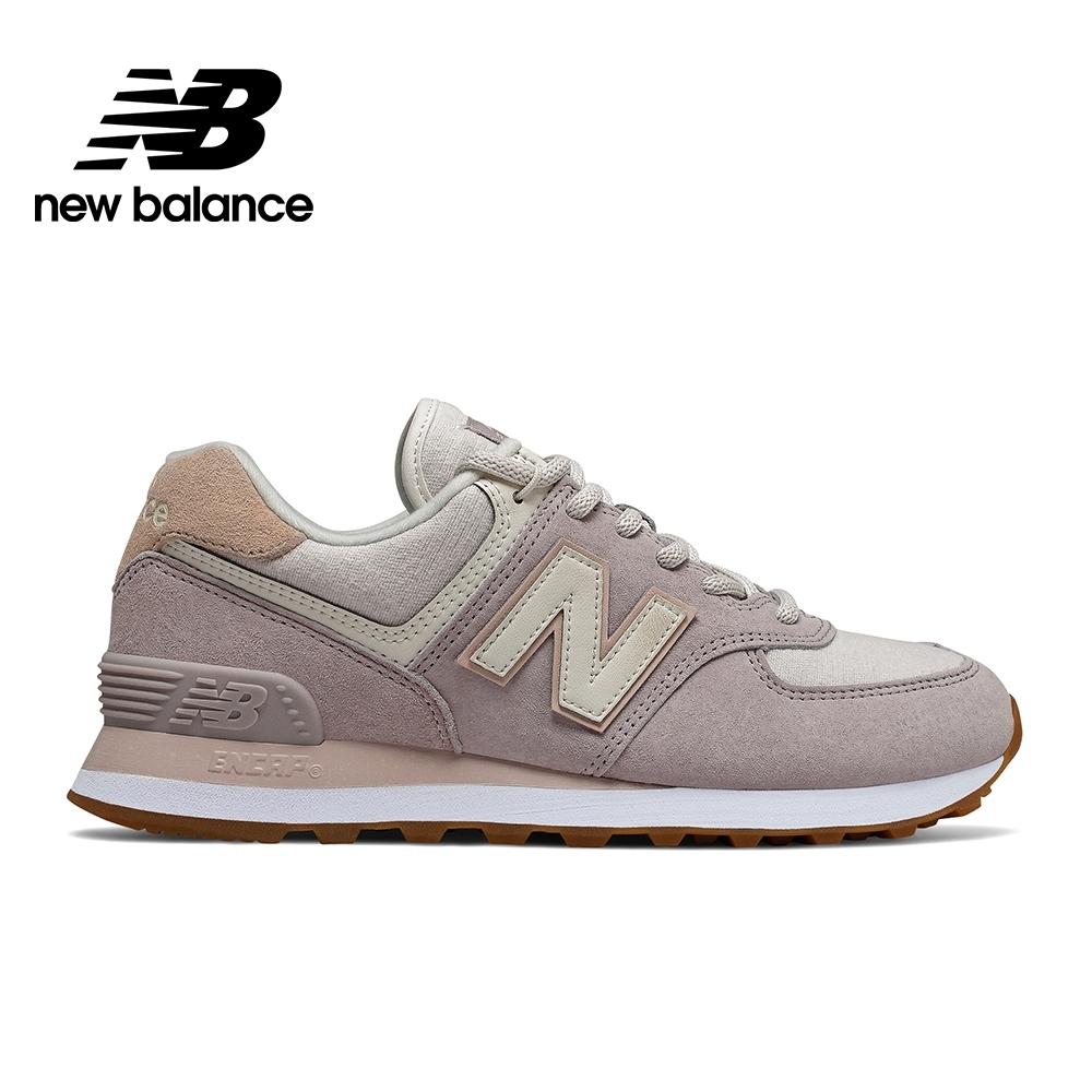 【時時樂限定】New Balance 574復古鞋_女性_粉紫/米白/粉藍 product image 1