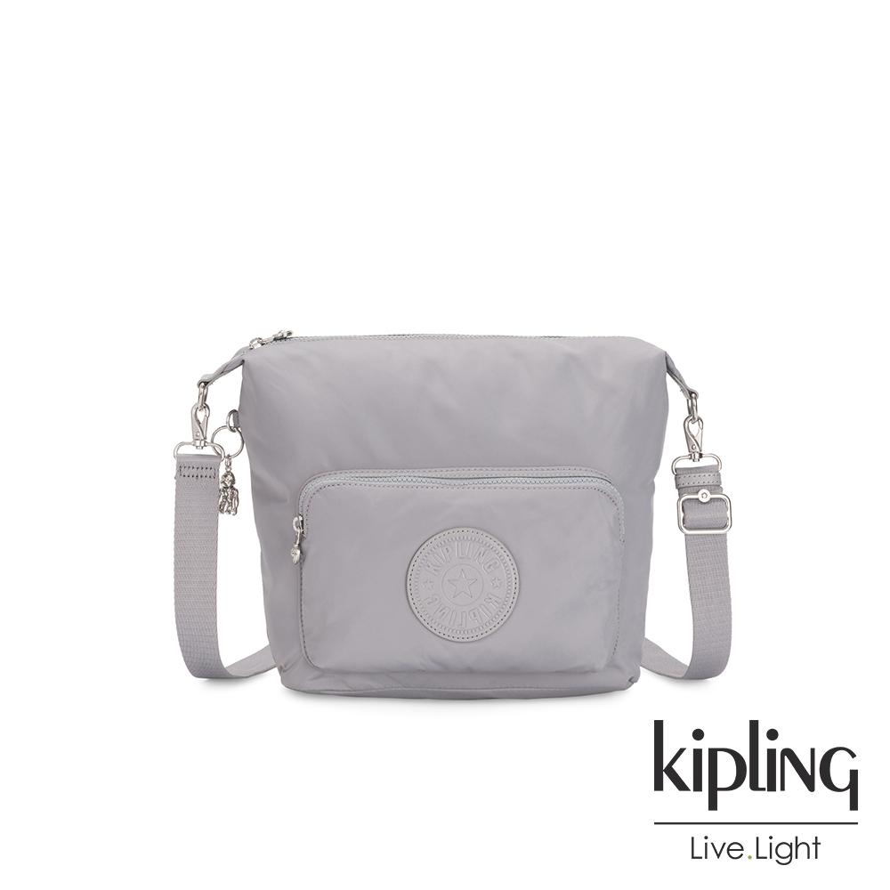 Kipling 知性質感灰藍兩用肩背包-VIDA