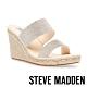 STEVE MADDEN-ASTORWAY-R 閃鑽雙帶楔型涼拖鞋-米杏色 product thumbnail 1