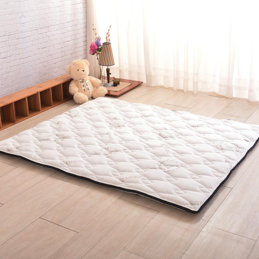 (618限定)法國防蹣防蚊+頂級天絲-超厚8cm兩用日式床墊-加大6尺
