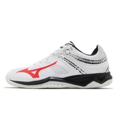 MIZUNO THUNDER BLADE 中 排球鞋 白-V1GA197065