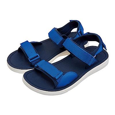 (男)VANS TRI-LOCK 素面織帶涼鞋*藍色