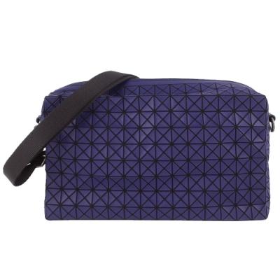 ISSEY MIYAKE 三宅一生BAOBAO 藍紫色壓印方格手拿/肩背/斜背包