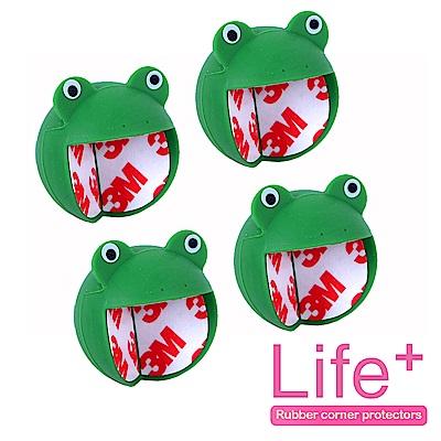 Life Plus 安全防護趣味造型桌角/防撞桌角_2組4入(青蛙)