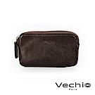 VECHIO - 經典商務男仕系列-多功能拉鍊零錢包 - 棕