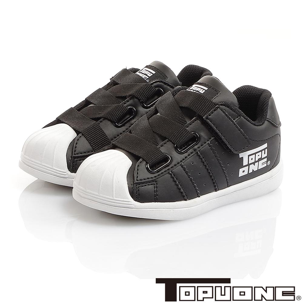 TOPUONE童鞋 彈性輕量抗菌防臭減壓防滑休閒鞋-黑