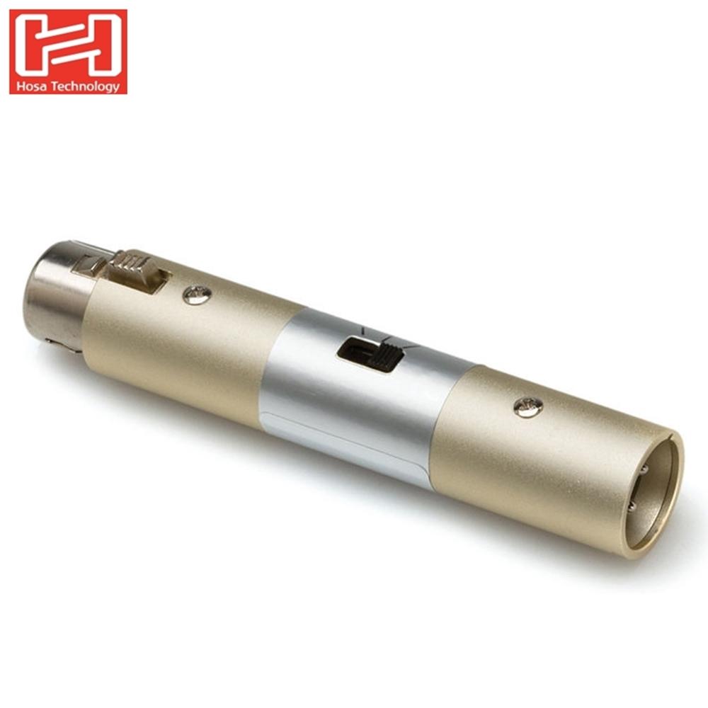 Hosa母XLR轉XLR公麥克風靈敏度衰減器ATT-448麥克風連接器