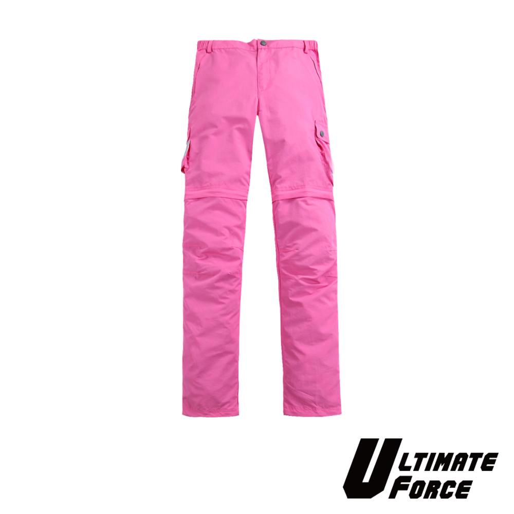 Ultimate Force「衝鋒」女款兩截速乾工作褲-洋紅色
