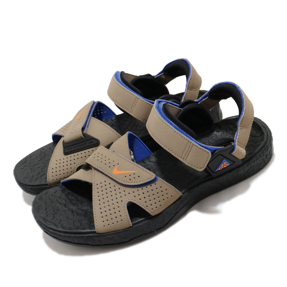 Nike 涼鞋 ACG Air Deschutz 男鞋 輕便 舒適 戶外 魔鬼氈 夏日 穿搭 棕 黑 CT3303200