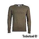 Timberland 男款軍綠色圓領LOGO毛衣|A1XPY