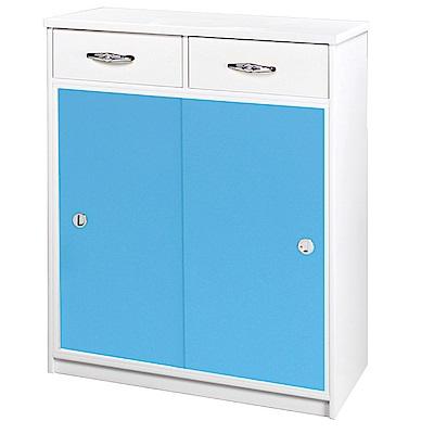 綠活居 阿爾斯環保2.8尺塑鋼推門鞋櫃(12色)-83x42x112cm免組