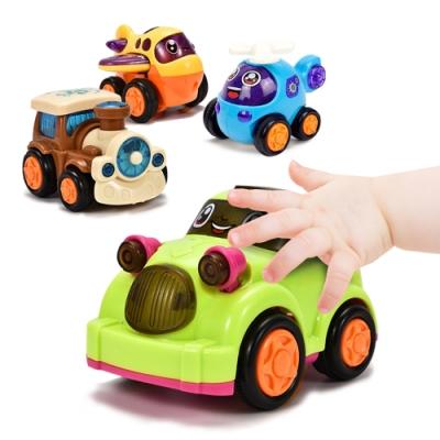 迴力車慣性車 兒童卡通小汽車飛機火車直升機4輛裝
