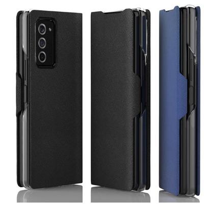 araree SAMSUNG Galaxy Z Fold2 翻頁式皮套【藍】
