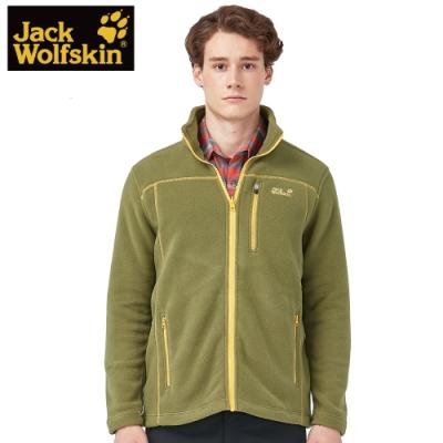 【Jack wolfskin 飛狼】男 POLARTEC 刷毛防寒保暖外套『苔癬綠』