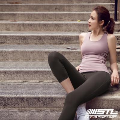 STL yoga bra T SS Balance Slim 韓國瑜珈 運動機能訓練背心上衣(含胸墊)平衡藕粉