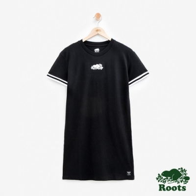 女裝Roots-網眼布海狸洋裝-黑色