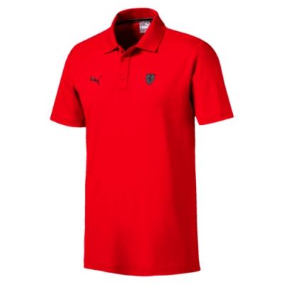 PUMA-男性法拉利經典系列短袖Polo衫-法拉利紅-歐規