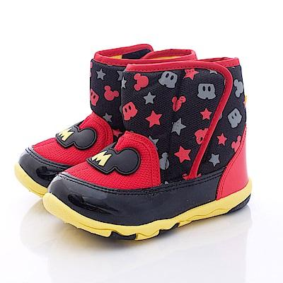 迪士尼童鞋 米奇造型超輕短靴鞋款 FO64651黑紅(中小童段)